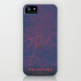 Prishtina, Kosovo - Neon iPhone Case