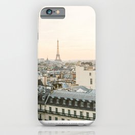On the rooftops of Paris iPhone Case