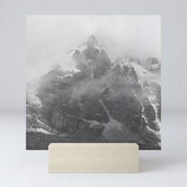 Rocky Mountain Fog B&W Mini Art Print