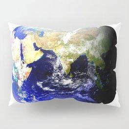 Earth Globe East Shadow Pillow Sham
