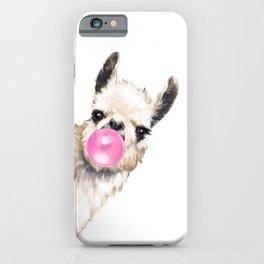 Bubble Gum Sneaky Llama iPhone Case