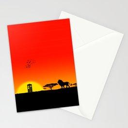 Tardis Sunset Stationery Cards