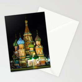 St. Basil's Cathedral on red square in Moscow Stationery Cards