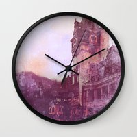 castle Wall Clocks featuring Castle by Nechifor Ionut