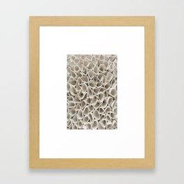 White porcelain Framed Art Print