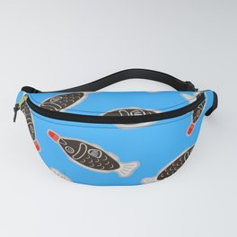 Sushi Soy Fish Pattern in Blue Fanny Pack