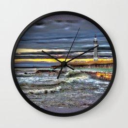 High tide at Seaburn Sunderland Wall Clock