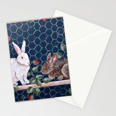 Bunnies in a Cage Stationery Cards
