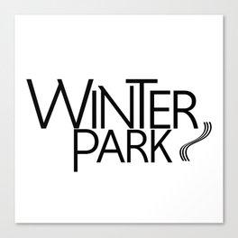 Winter Park - Type - 57 Montgomery Ave Canvas Print