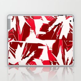 Red abstract flowers Laptop & iPad Skin