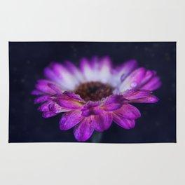 Purple Gerbera Daisy Closeup Rug