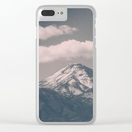 Moody Navada Mountain Clear iPhone Case