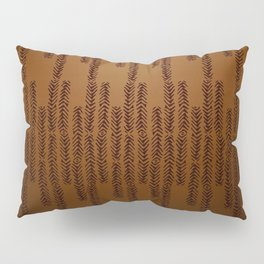 Eye of the Magpie tribal style pattern - bronze Pillow Sham