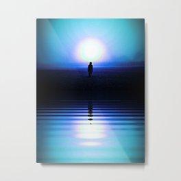 Blue Halo Metal Print
