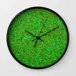 Closer Carpet on amazon river Wall Clock