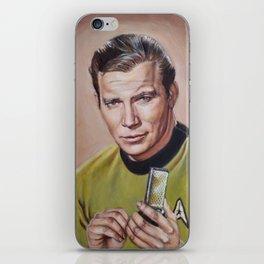 Captain Kirk - Portrait Painting iPhone Skin