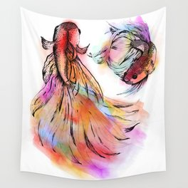 Siamese Fighting Fish Wall Tapestry