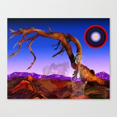 billy the kid's tree post Canvas Print