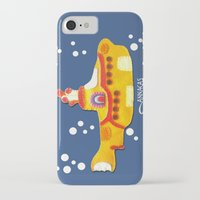 yellow submarine iPhone & iPod Cases featuring Fabric Yellow Submarine by AnnaCas