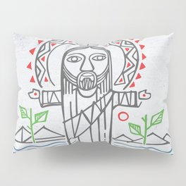 Jesus Christ in indigenous style Pillow Sham