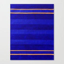 N241 - Navy Deep Calm Blue Velvet Texture Moroccan Style  Canvas Print