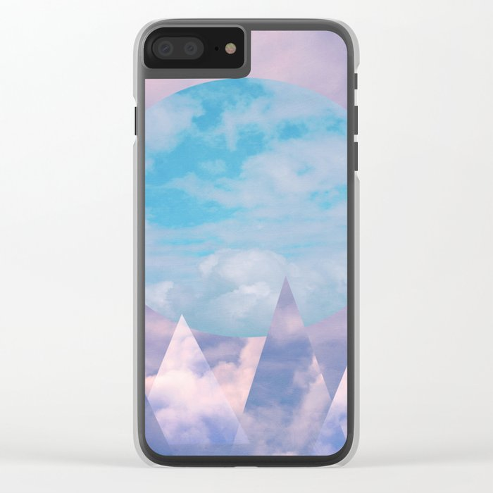 Clouds and Mountains Clear iPhone Case