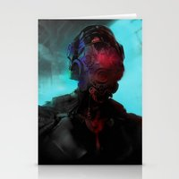 cyberpunk Stationery Cards featuring Cyberpunk #2 by Lunaramour