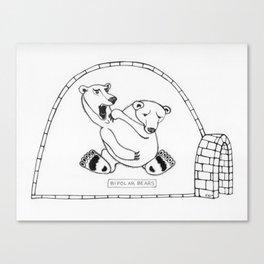 """""""Bipolar Bears"""" Canvas Print"""