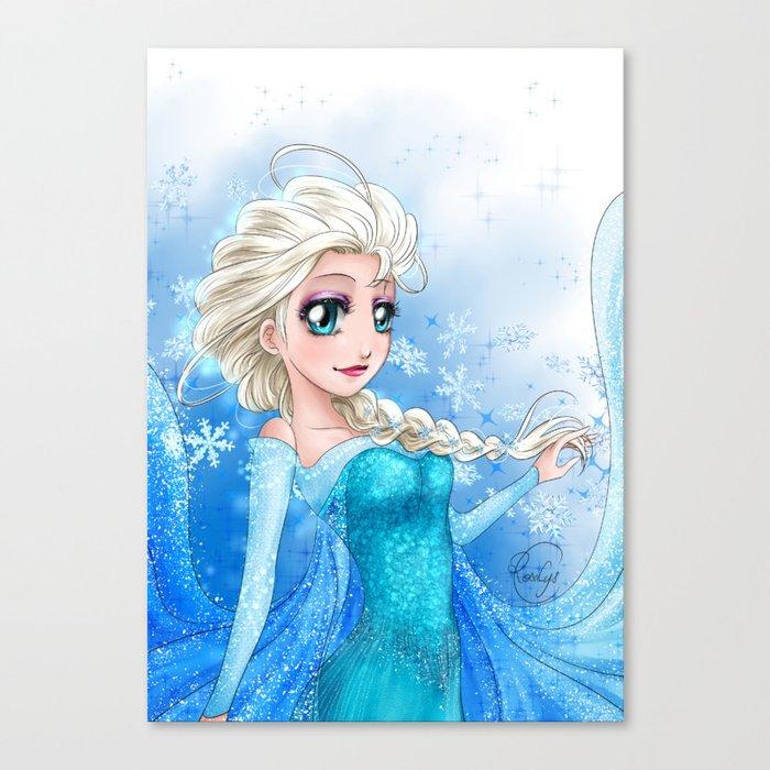 Elsa Frozen La Reine Des Neiges Canvas Print