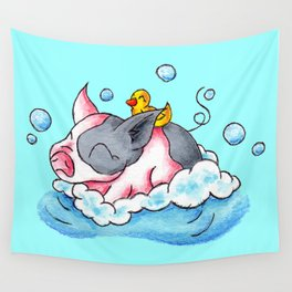Bath Time! Wall Tapestry