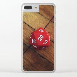 D20 Clear iPhone Case