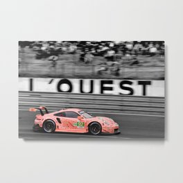 Pink Pig German Sports Motor Car Le Mans 2018 Metal Print