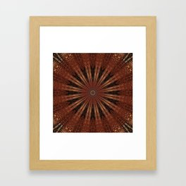 Rust Brown Bohemian Mandala Framed Art Print