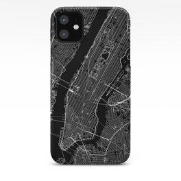 New York City Black Map iPhone Case