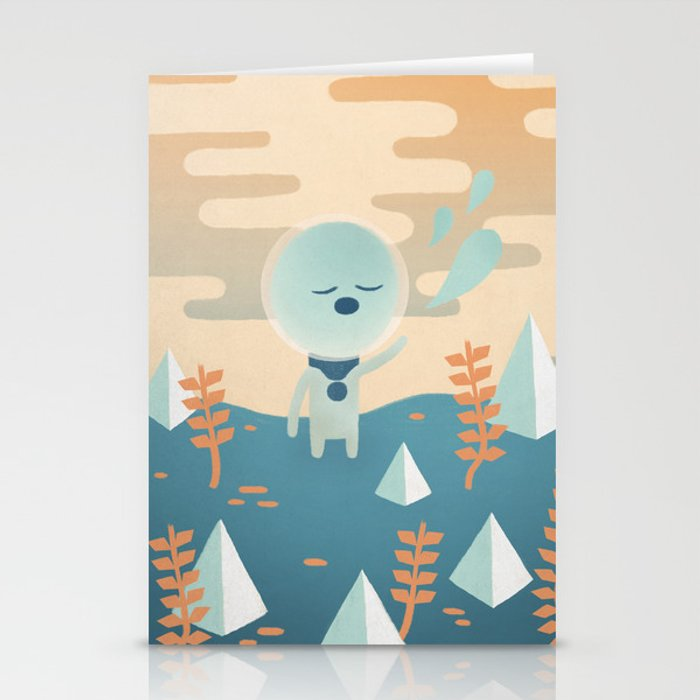 Space Traveler Stationery Cards