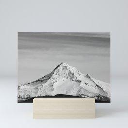 Mount Hood - Snow Capped Mountain Adventure Nature Photography Mini Art Print