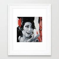 """amy poehler Framed Art Prints featuring """"Amy"""" by Dmitry  Buldakov"""