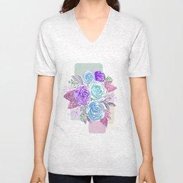 Bright Bouquet Unisex V-Neck