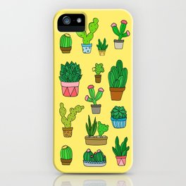 Plant Love (Bright Yellow) iPhone Case