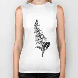 wild flower: digitalis purpurea Biker Tank
