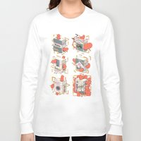 cigarettes Long Sleeve T-shirts featuring Cigarettes Deluxe by Kensausage