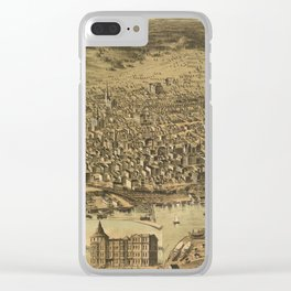 Vintage Pictorial Map of Tacoma WA (1890) Clear iPhone Case