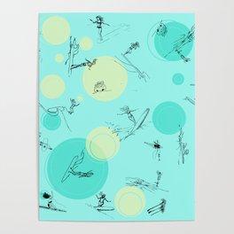 Surf Crazy Pattern Design Poster