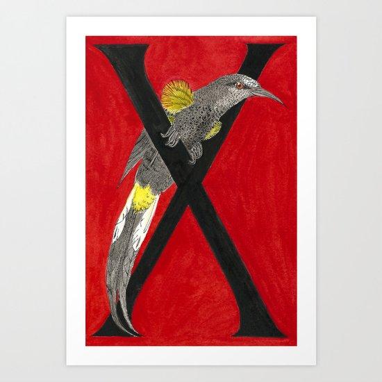"""X is for """"X""""tinct (O'o) Art Print"""