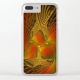 Mysterious and Luminous, Abstract Fractal Art Clear iPhone Case