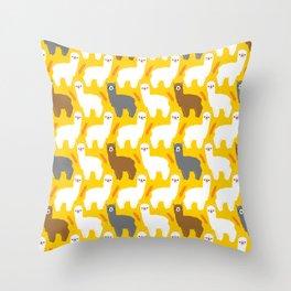 The Alpacas Throw Pillow