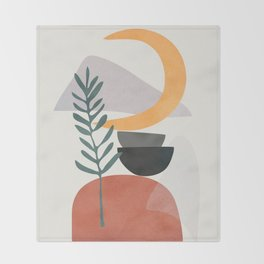 Abstract Shapes No.25 Throw Blanket