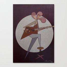 Guitar Man 1975 Canvas Print