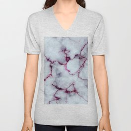 Blood Marble Unisex V-Neck