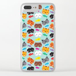 Cats Love Fish I Clear iPhone Case